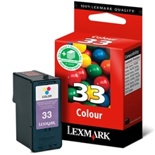Lexmark Ink No 33 Color (Low yield) 018CX033E